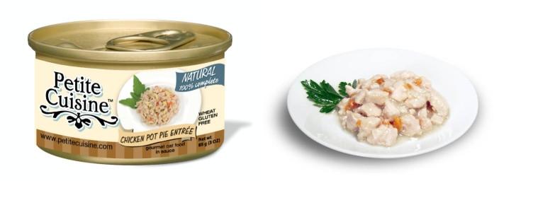 Petite Cuisine Chicken Pot Pie / Piersi z kurczaka z marchwią z dodatkiem batatów (85 g)