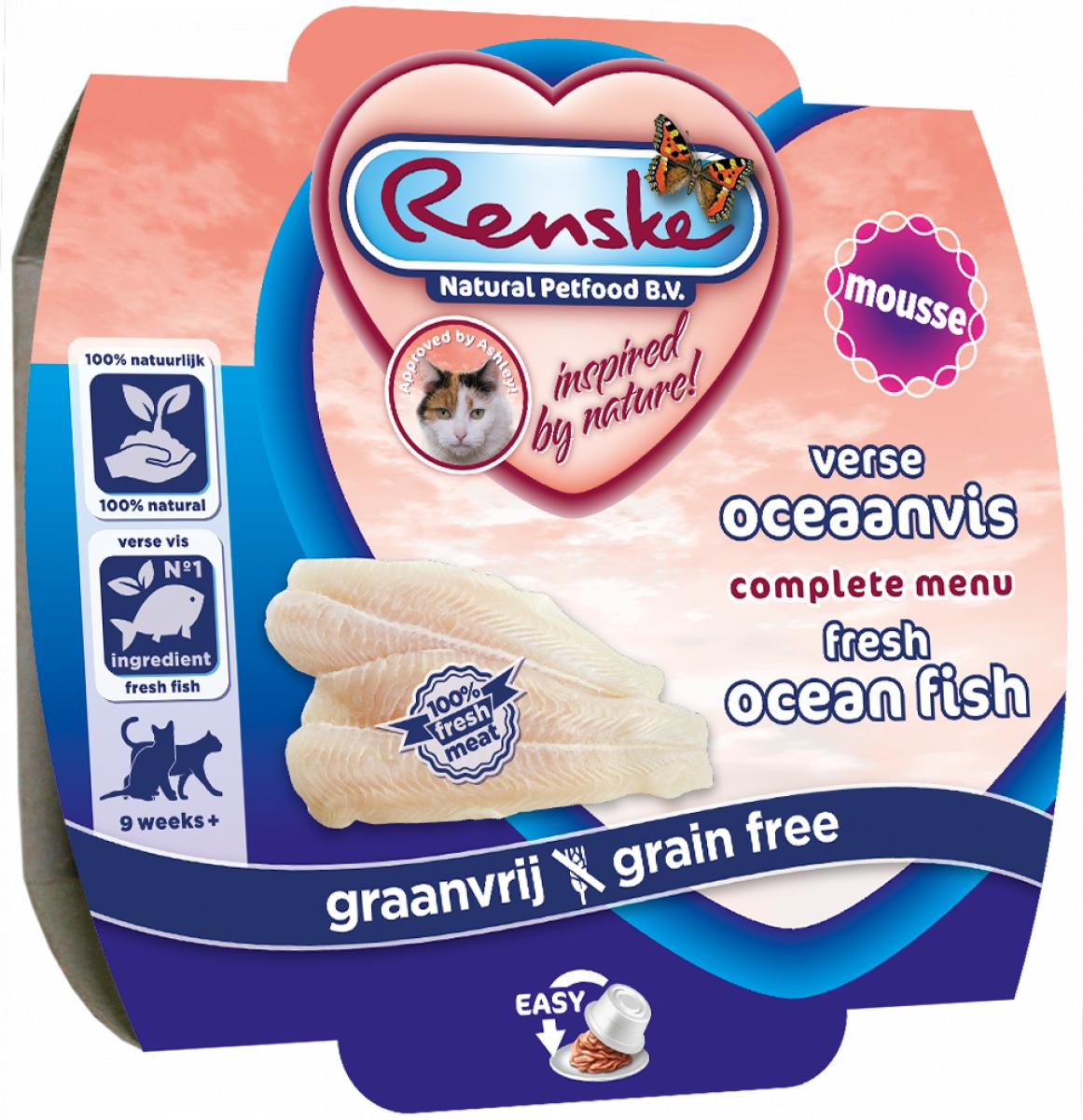 Renske Cat fresh oceanfish with tuna and shrimps - świeże mięso z białych ryb z tuńczykiem i krewetkami 100 g