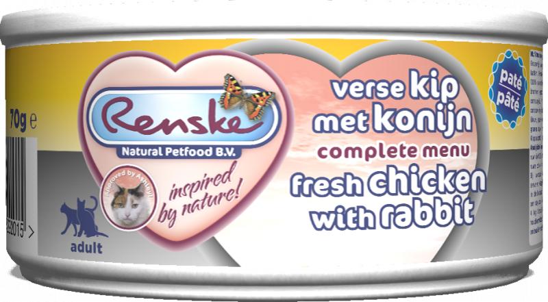 Renske Cat fresh meat – świeże mięso kurczak z królikiem 70 g