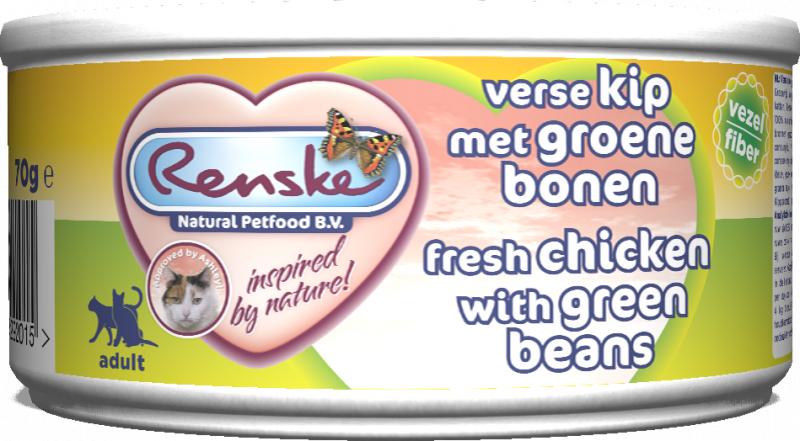 Renske Cat fresh meat – świeże mięso kurczak z fasolką szparagową 70 g