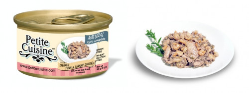 Petite Cuisine - Filety z tuńczyka i krewetki (85 g)