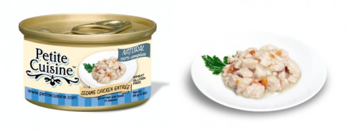 Petite Cuisine - Białe mięso z kurczaka z dodatkiem oleju sezamowego i marchewki (85 g)